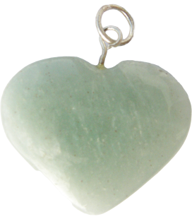 Coeur jade et chaînette