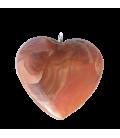 Coeur cornaline et chaînette