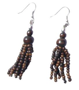 Boucles d'oreille PATTY os de chameau