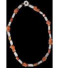 Collier CAMELIA cornaline & cristald e roche