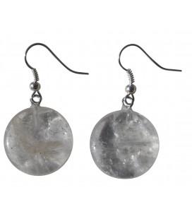 Boucles d'oreille Ecu cristal de roche