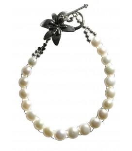 Bracelet Solange perles de culture boutons