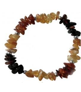 Bracelet Yvonne ambre multicolore