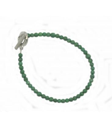 Bracelet ALice malachite reconstituée