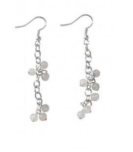 Boucles d'oreille PAMPI quartz rose