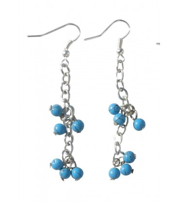 Boucle d'oreille PAMPI TURQUOISE