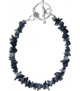 Bracelet Chips obsidienne moucheté
