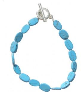 Bracelet Amandine turquoise reconstituée
