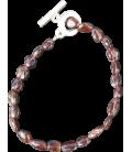 Bracelet Amandine grenat