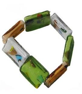 Bracelet Vert marine verre de murano