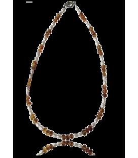 Collier Mara ambre et perles d'eau douce