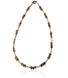 Collier Mara ambre et pierres fines