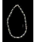 BIJ 910 COL Collier Yvette obsidienne mouchetée