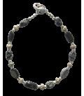 Bracelet Yvette obsidienne mouchetée