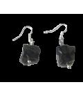 Boucles d'oreille Jude onyx noir