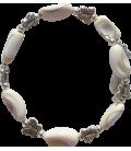 Bracelet Orphée coquillage et métal argenté