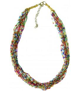 Collier Elfe perles indiennes de verre