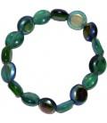 Bracelet VERT MARINE verre de Venise irisé