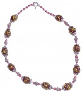 Collier ADELINE en verre de Murano