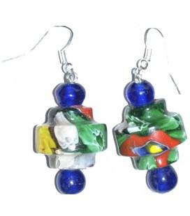 Boucles d'oreille ZIGGY en verre de Murano