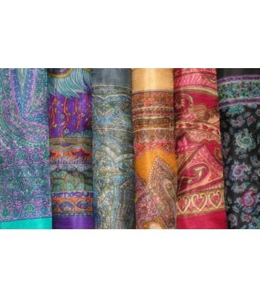 Lot de 10 foulards en soie naturelle 1mX1m