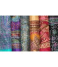Lot de 10 foulards en soie naturelle