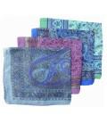 Lot de 5 foulards en soie naturelle