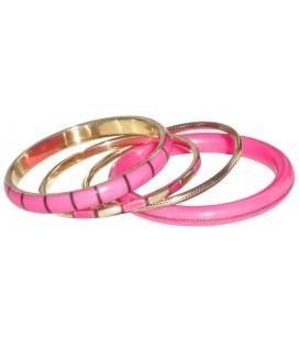 Bracelet Pinky en résine et métal doré